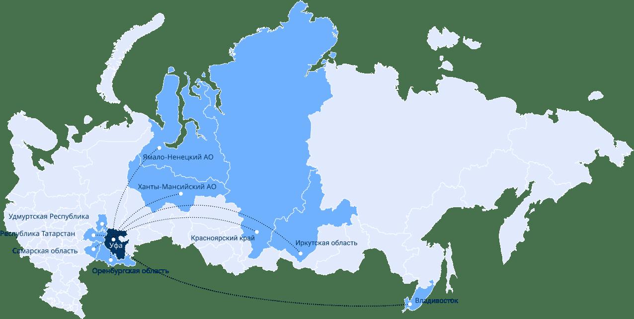 Карта географии поставок